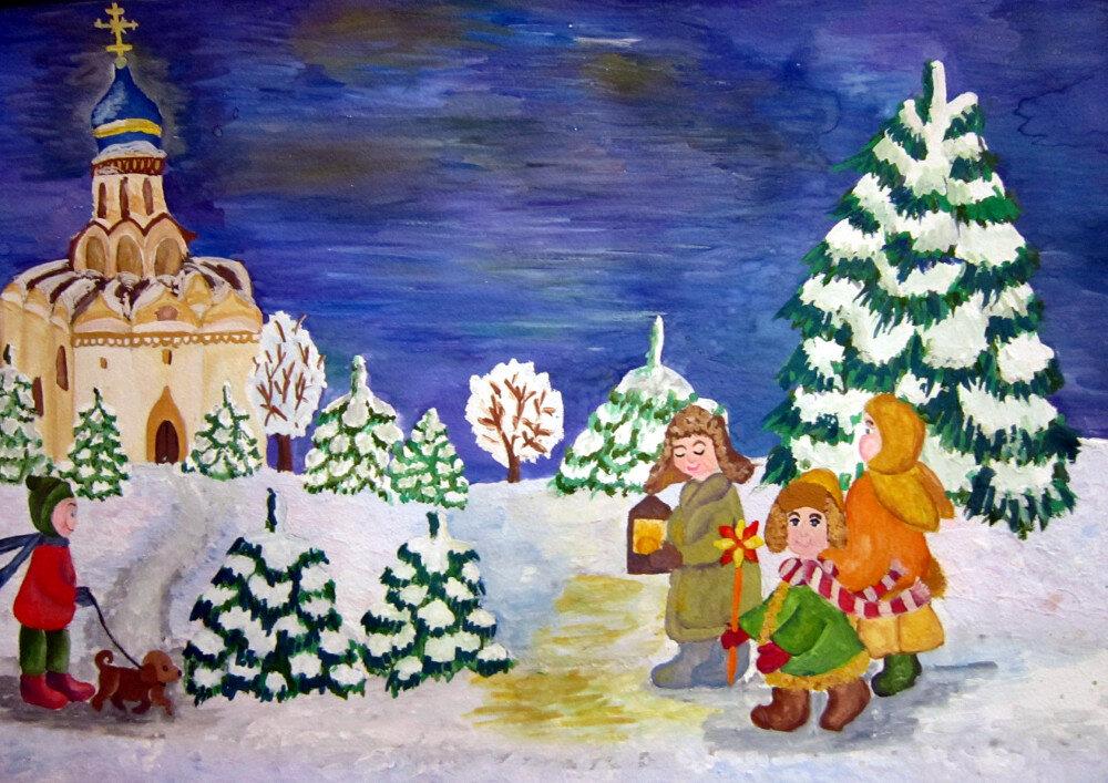 Детские картинки о рождестве