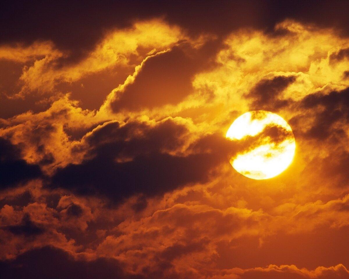 Картинки туча солнце