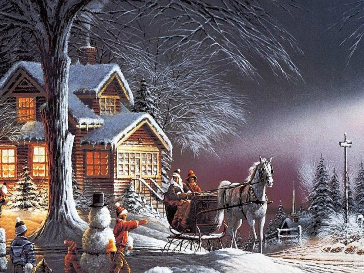 Картинки на рабочей стол на рождество