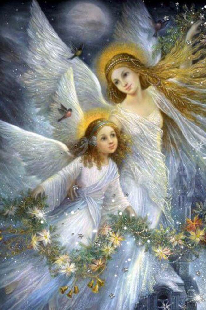 Открытки с ангелом хранителем для детей, днем рождения