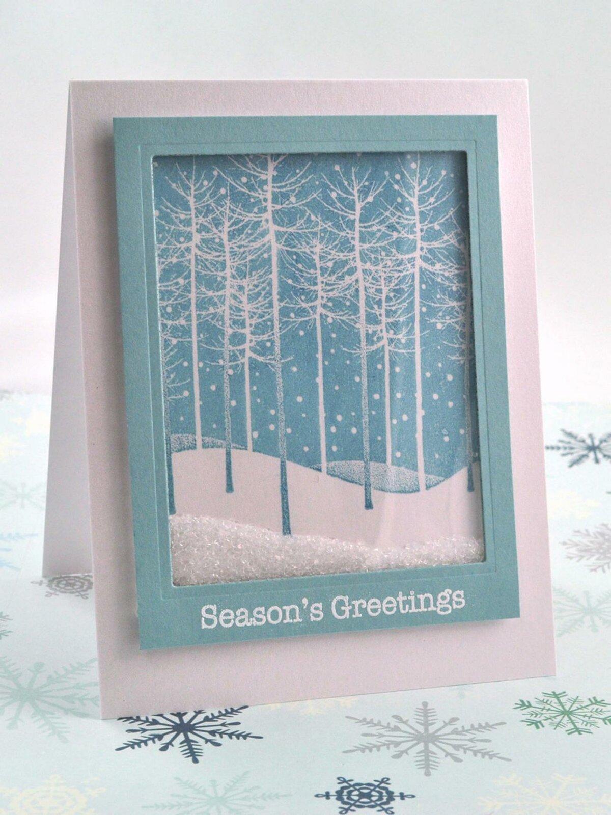 Зимняя открытка на день рождения своими руками, новый год другу