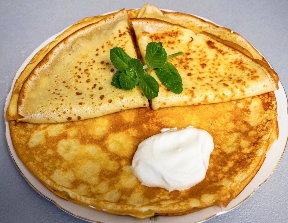 Блины на молоке тонкие с дырочками: рецепт с содой