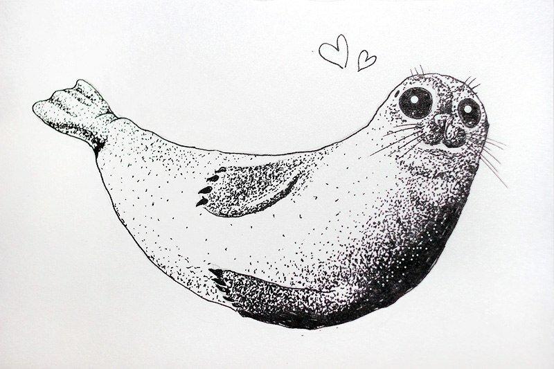 Картинки черной гелевой ручкой веселые и милые, смешные картинки