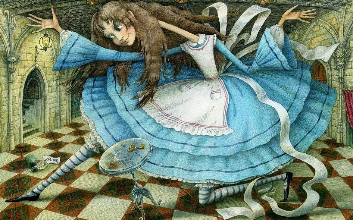 картинки оригинальные алиса в стране чудес дачники