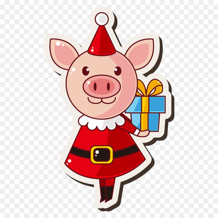 стародавние картинка новогоднего символа свиньи лет