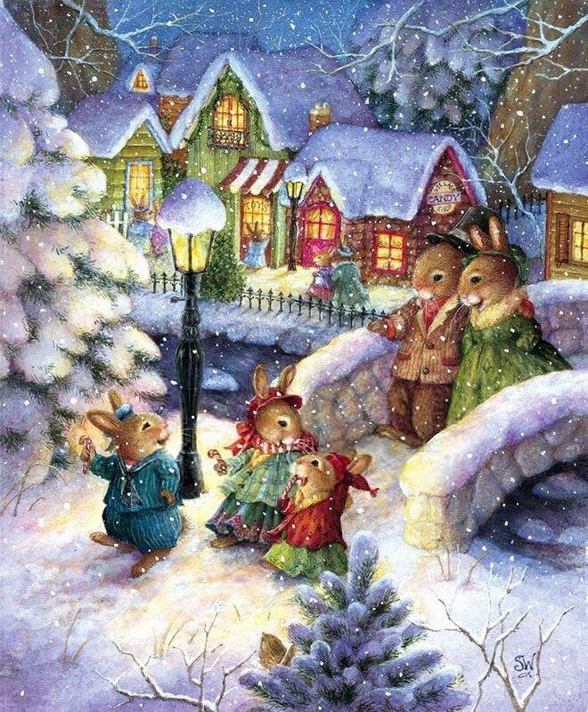 Волшебный новый год картинки для декупажа, открытки старым