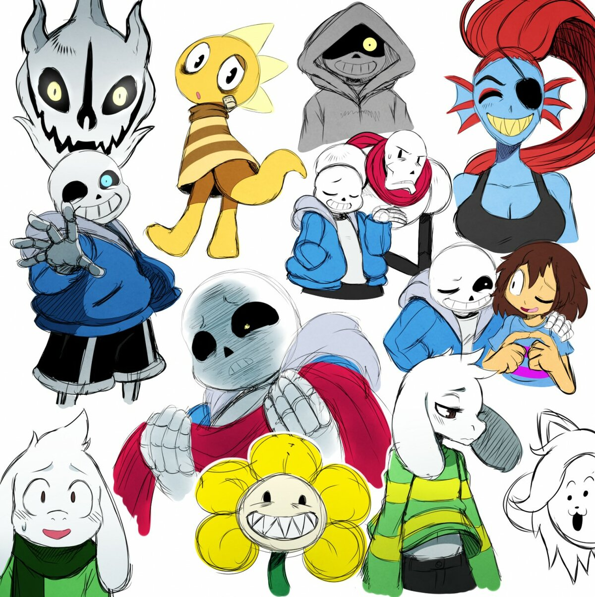 Картинка персонажи из андертейл