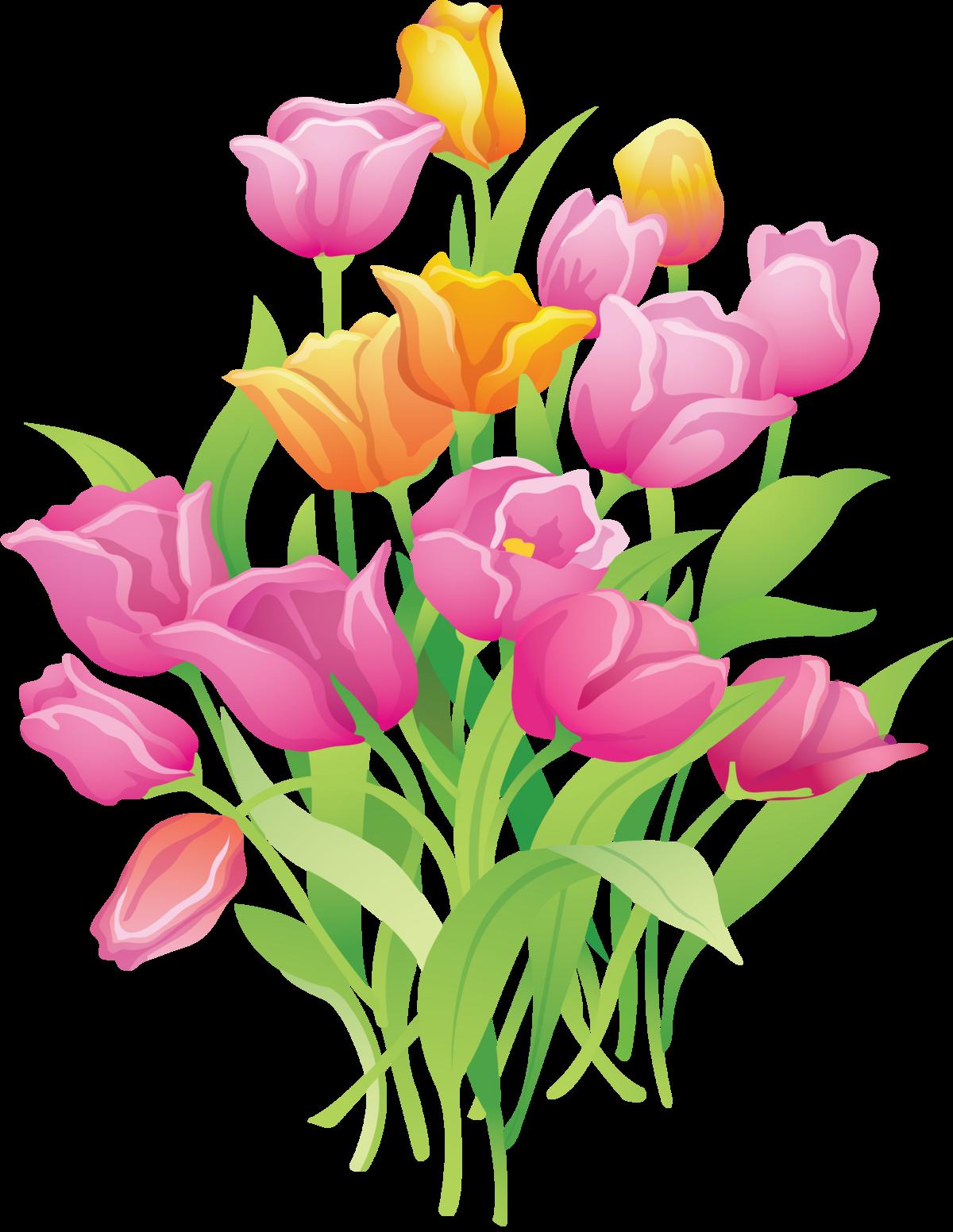 Картинка букет цветов на прозрачном фоне для детей, открытки