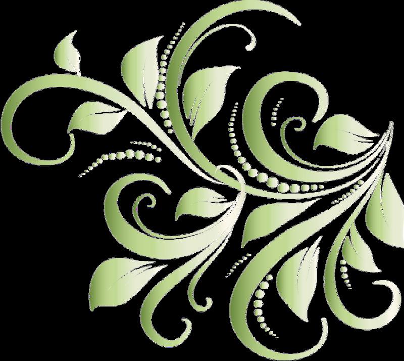 Завитушки цветы картинки