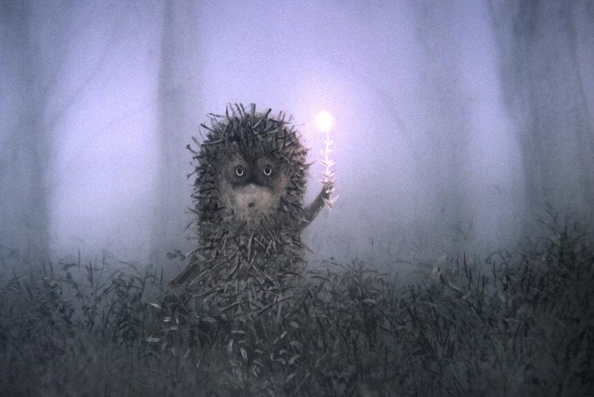 Картинки с ежиком в тумане