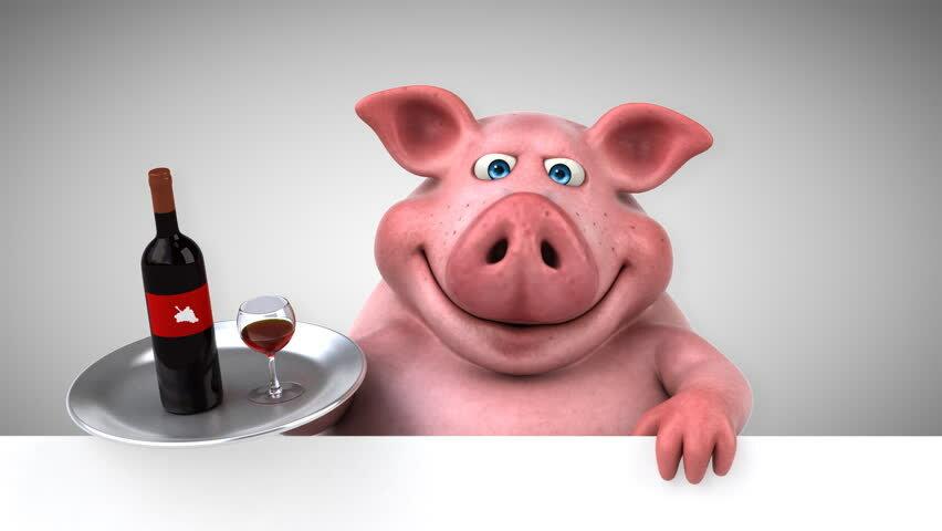 Картинка свинка прикольная