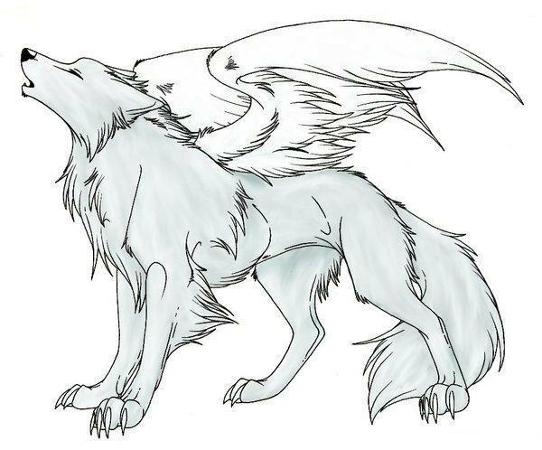 Картинки для срисовки волки аниме в полный рост