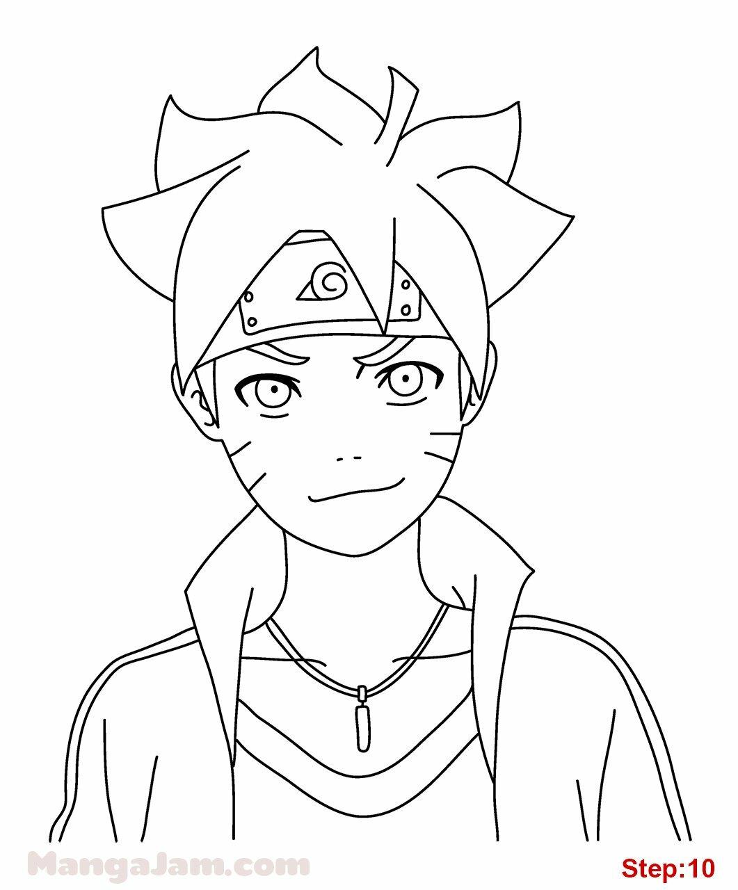 Gambar Anime Boruto Hitam Putih Ez Rasio карточка пользователя