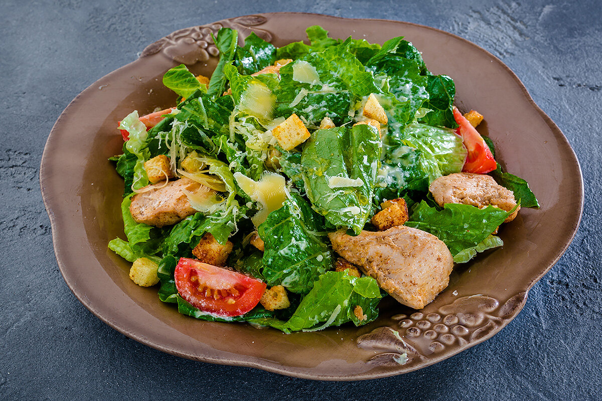 глубине цезарь салат рецепт классический с сухариками фото хобби класса