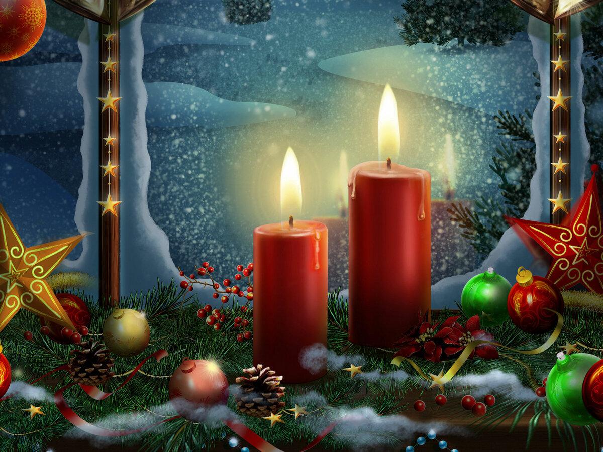 Для, открытки и анимации с рождеством и новым годом