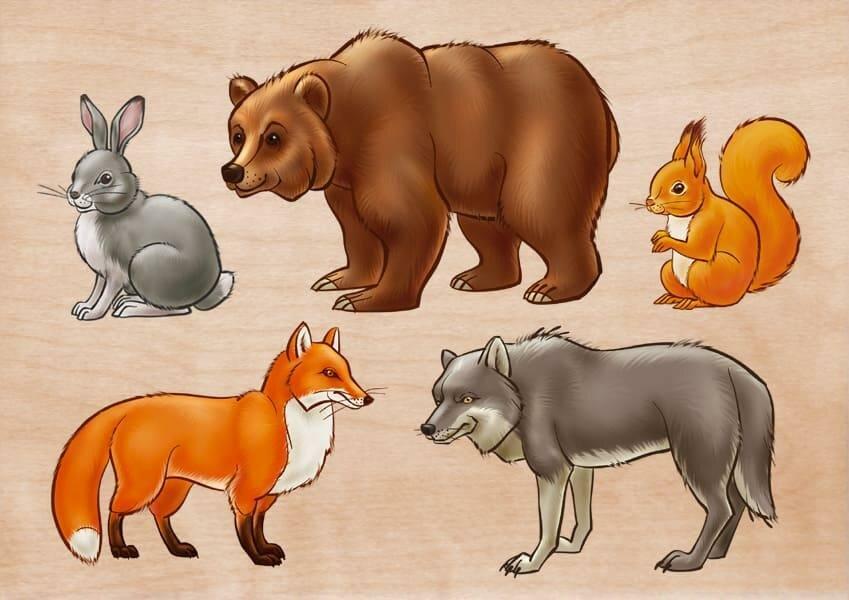 оставаться картинки лесные звери с детьми нас