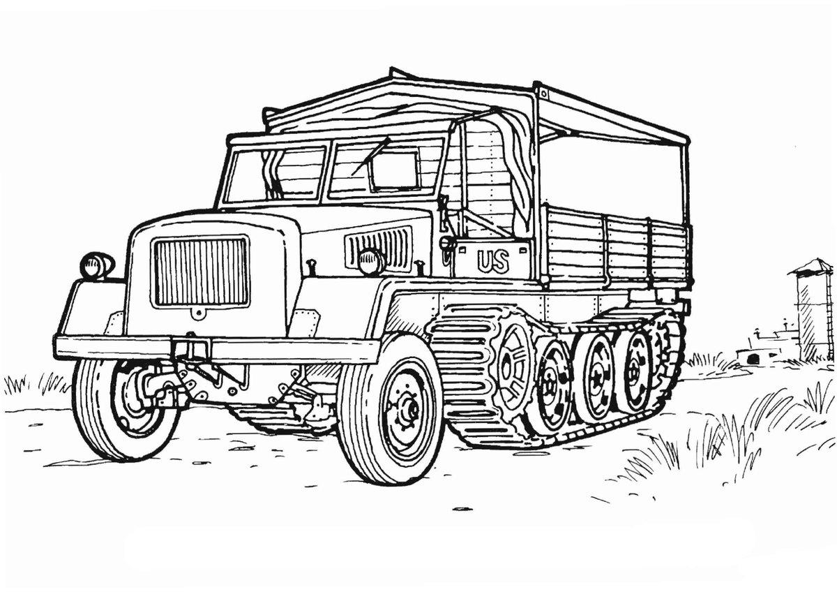 Раскраска военных машин для мальчиков