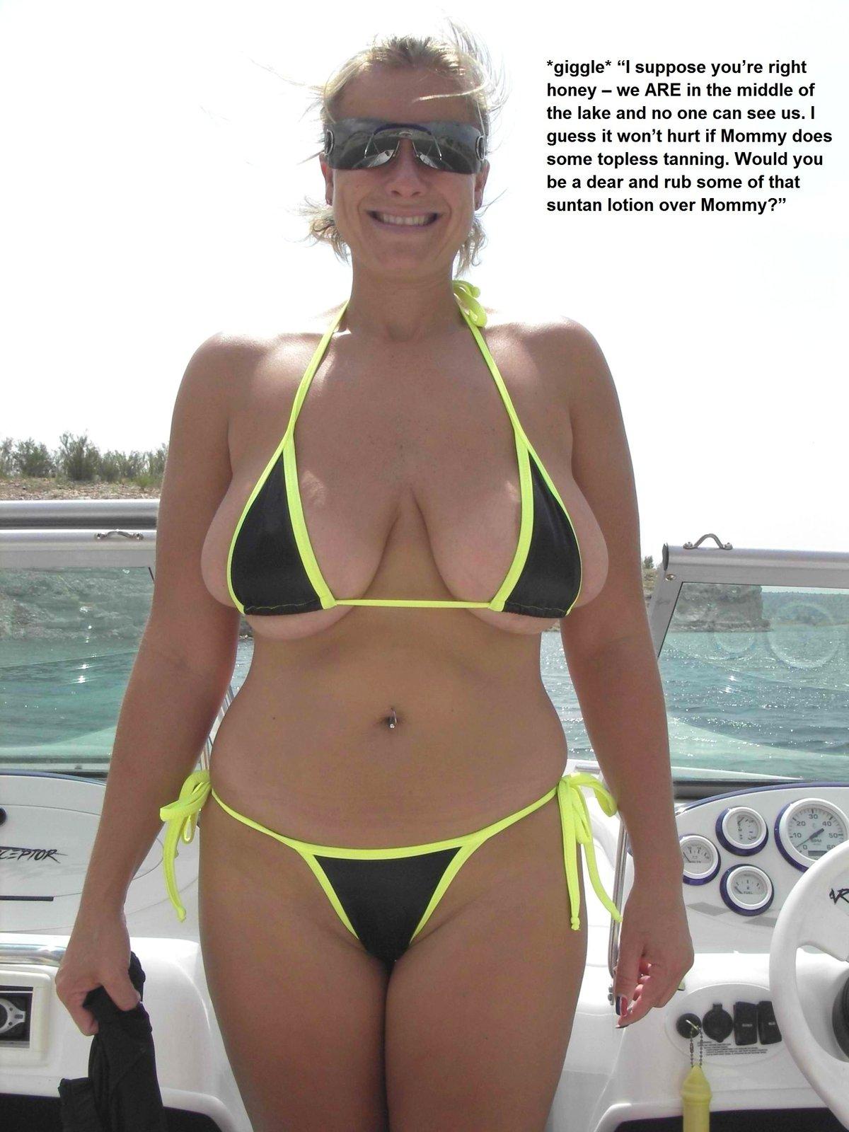 Толстухи в микро бикини фото