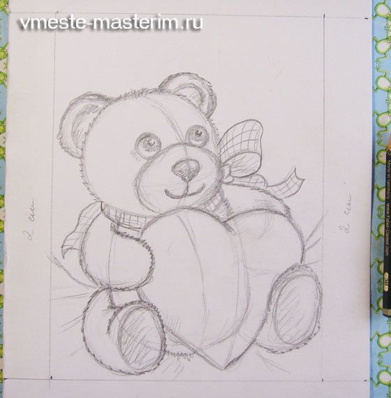 Как нарисовать красивую открытку на день рождения маме своими руками поэтапно
