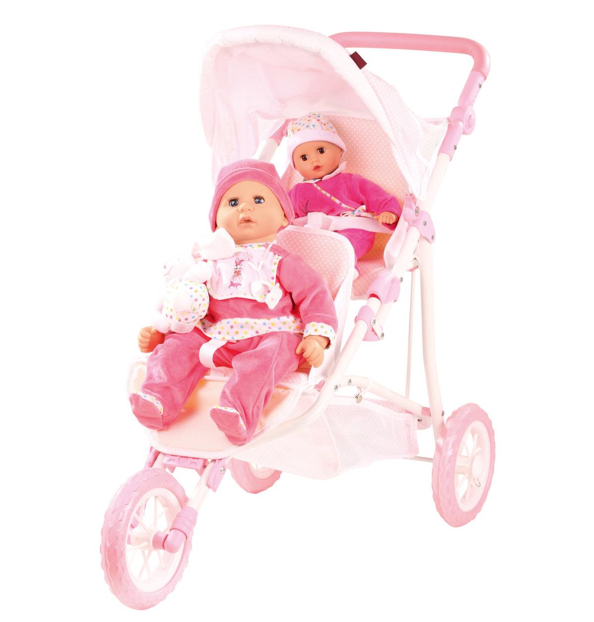 Картинки коляска для кукол двойняшек, днем
