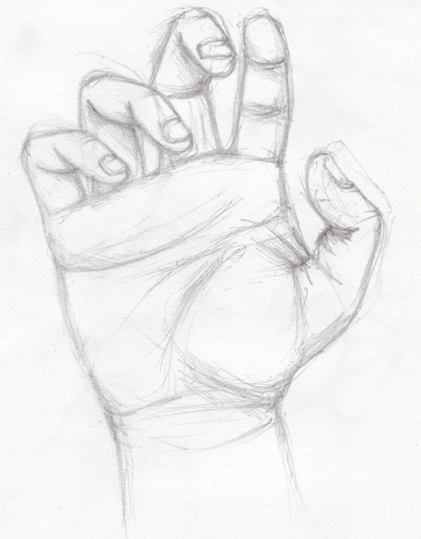 Нарисованная карандашом рука картинки