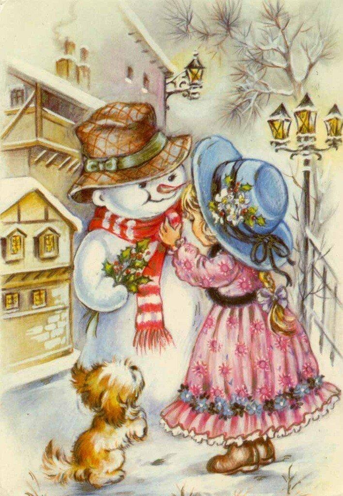 Открытки для девочек новогодние, поздравления ангелами алла