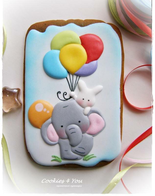 Пряничные открытки с днем рождения