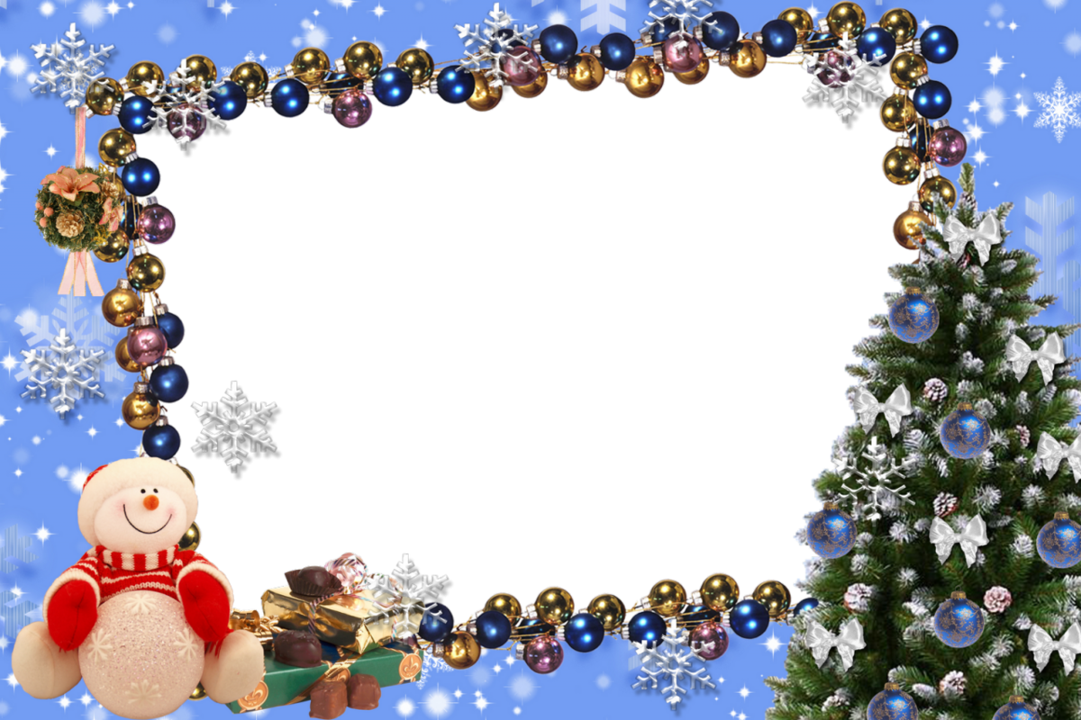 Картинки новогодние рамки на прозрачном фоне