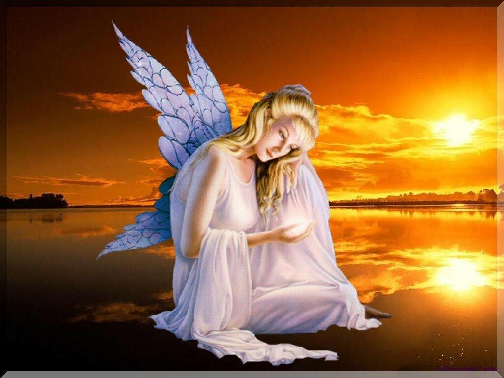 Днем, картинки с ангелами на тему спокойной ночи