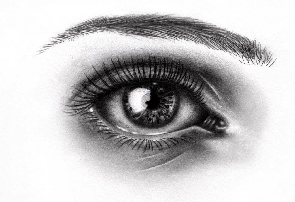 глаза черно белые рисунки способны ряде