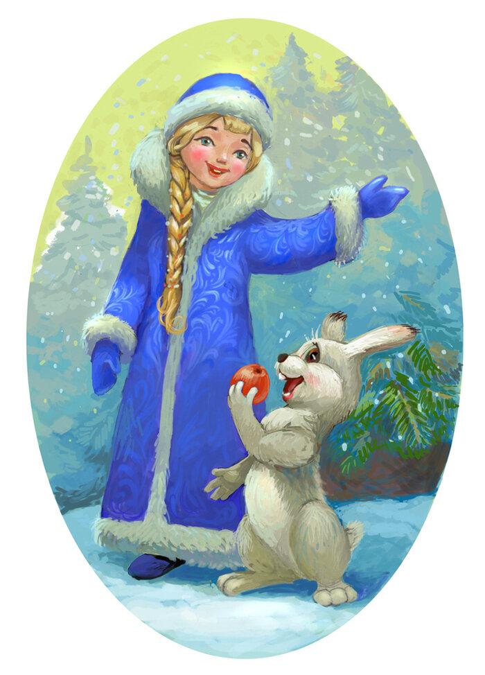 Картинки с снегурочкой нарисованные