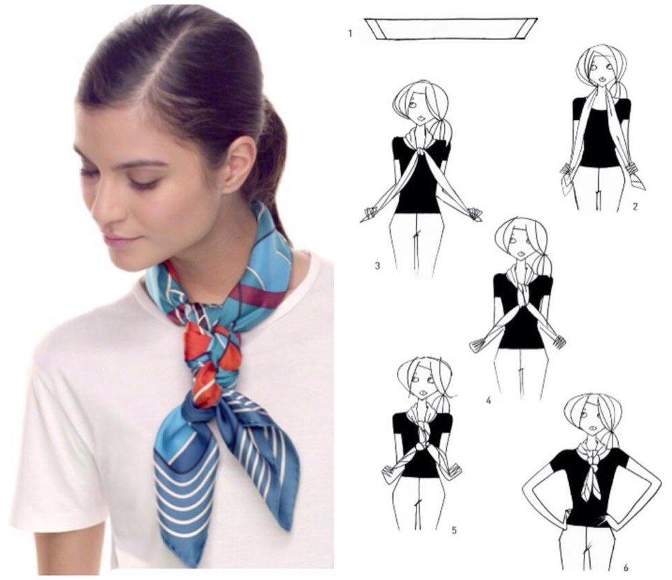 Как красиво завязать шарф картинки по шагу