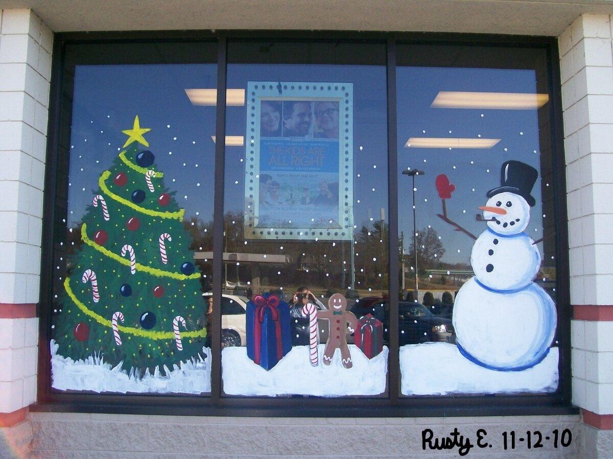 такую новогодние картинки красками на окна привлекают читателей