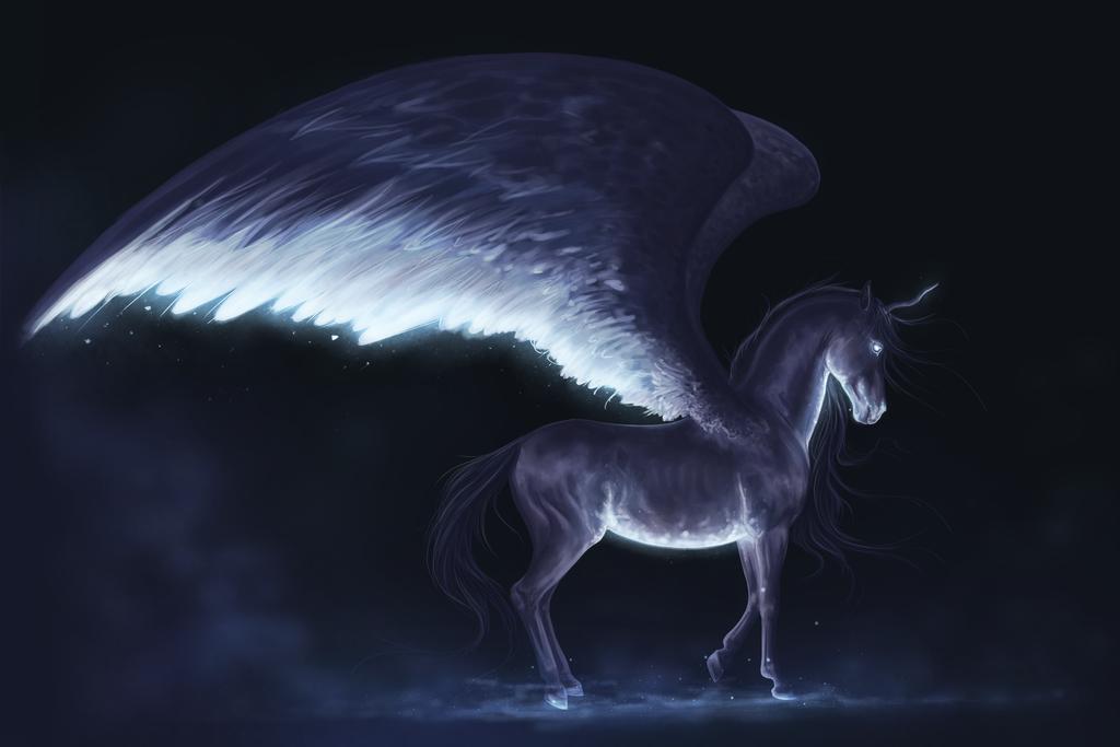 Картинка конь с крыльями