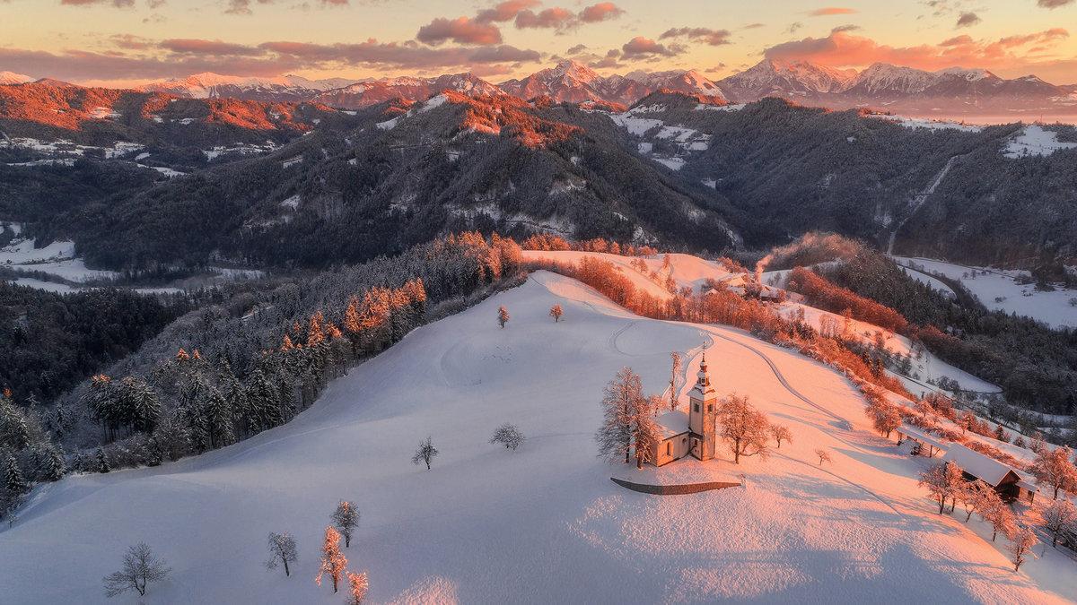 Днем, альпы картинки зима