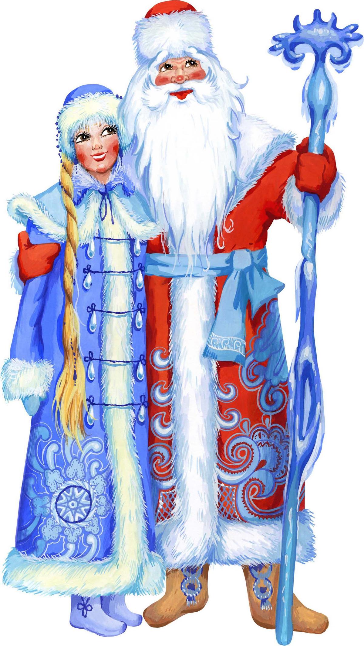 Картинки на новый год дед мороз и снегурочка