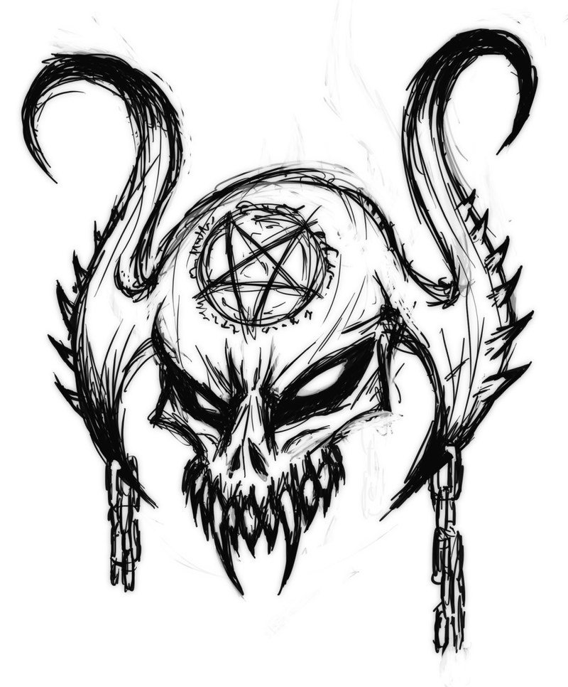 Рисунки дьяволов карандашом