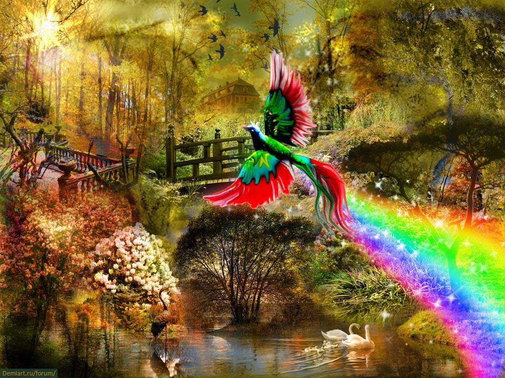 Птица счастья картинки красивые