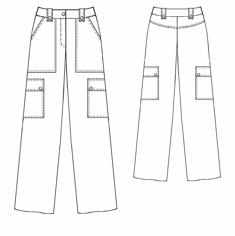 Технические рисунки брюк пишут