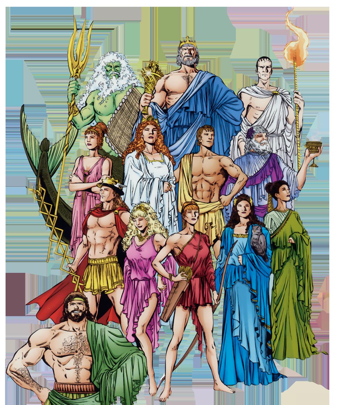 оригинальные боги олимпа рисунки данной