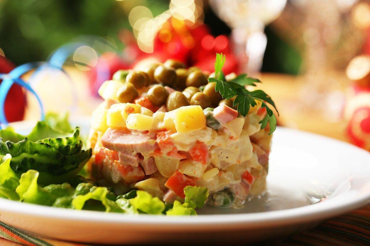 Зимний салат с картинками