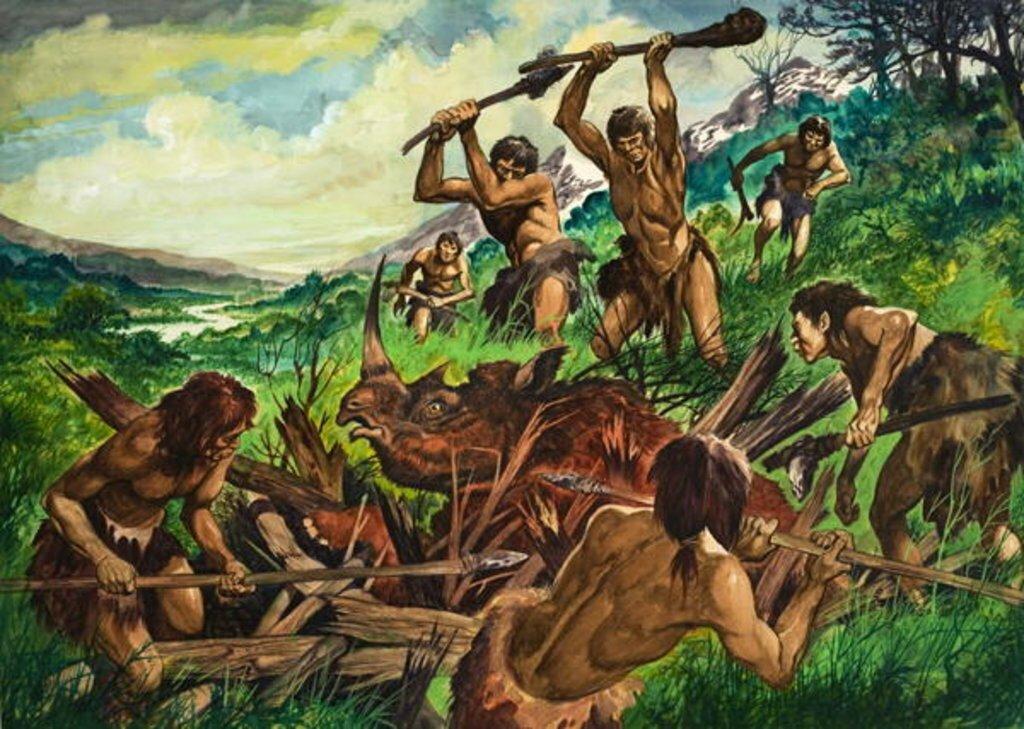 Картинки древних людей и их занятия