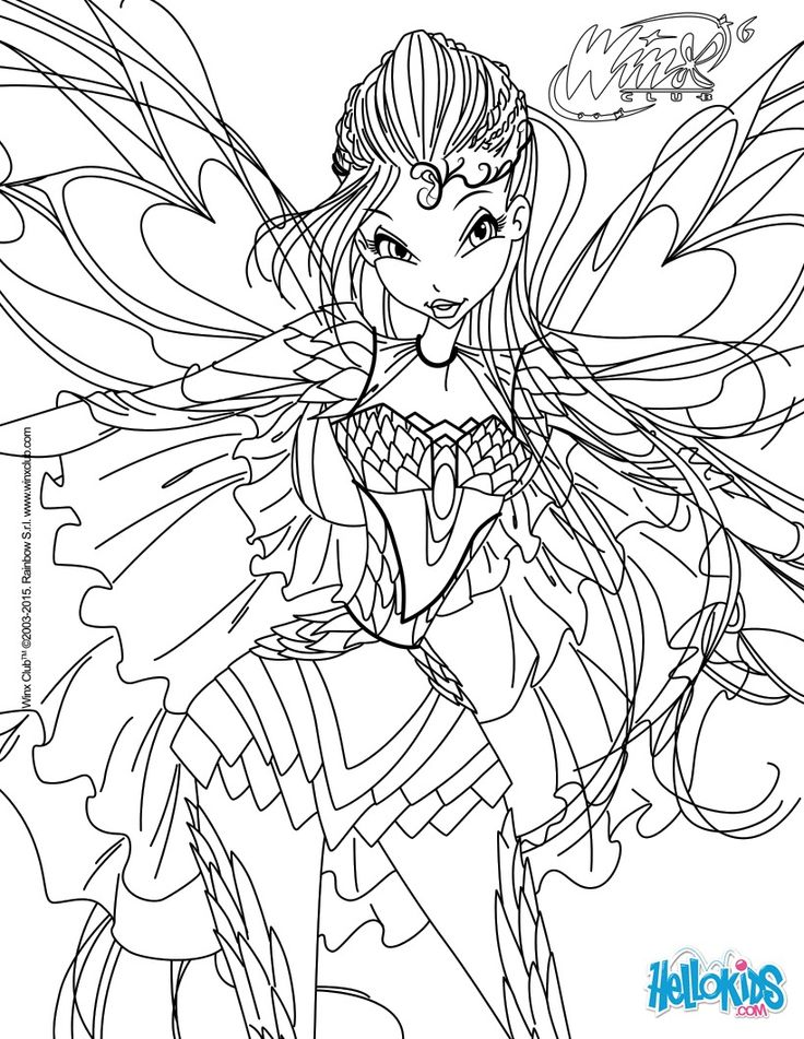 Bloom Transformation Bloomix Coloring Page Coloring The Media