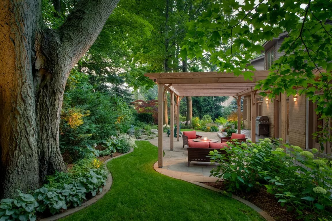 картинки красивого сада с беседкой капусту