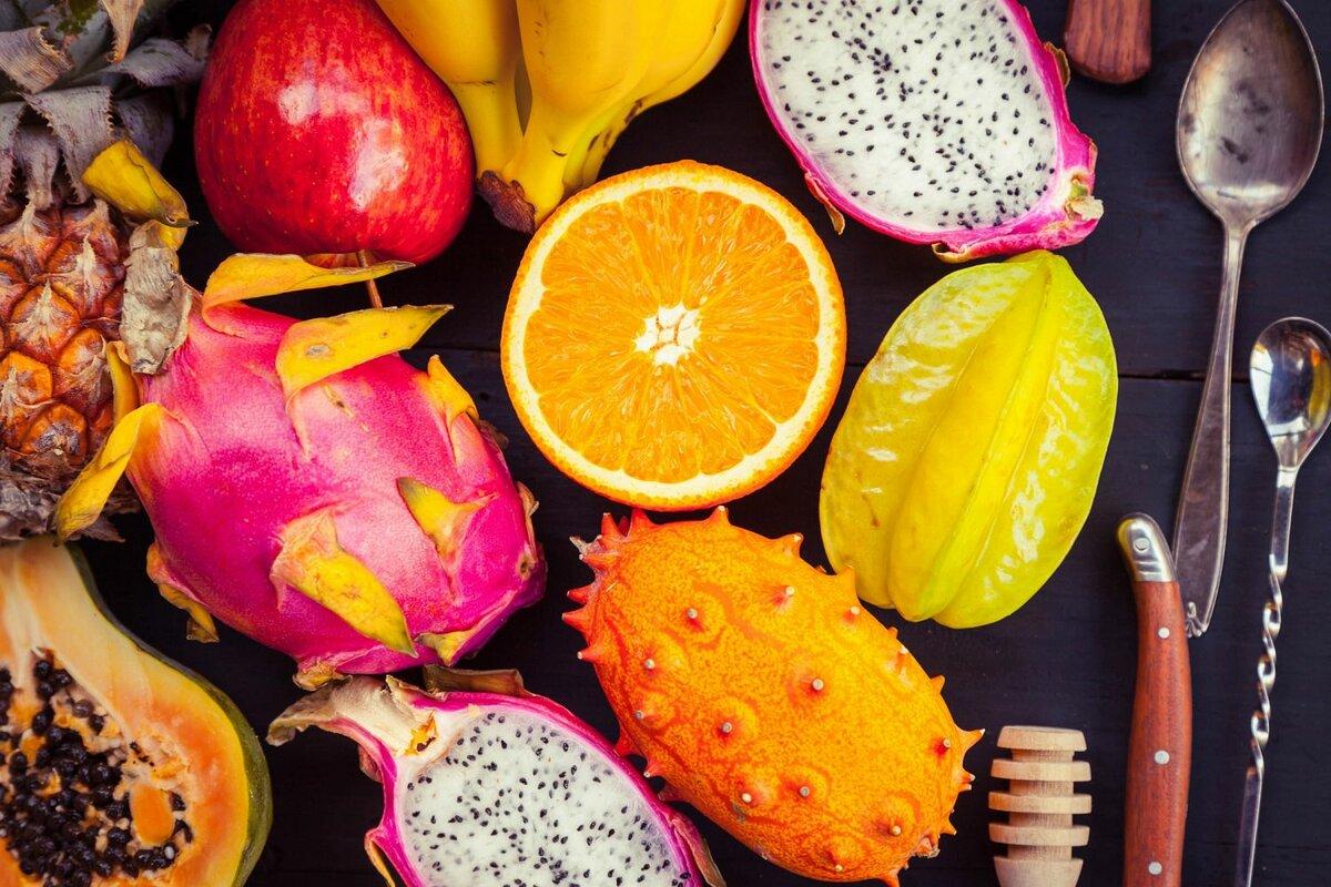 название и картинки экзотических фруктов дорога будет