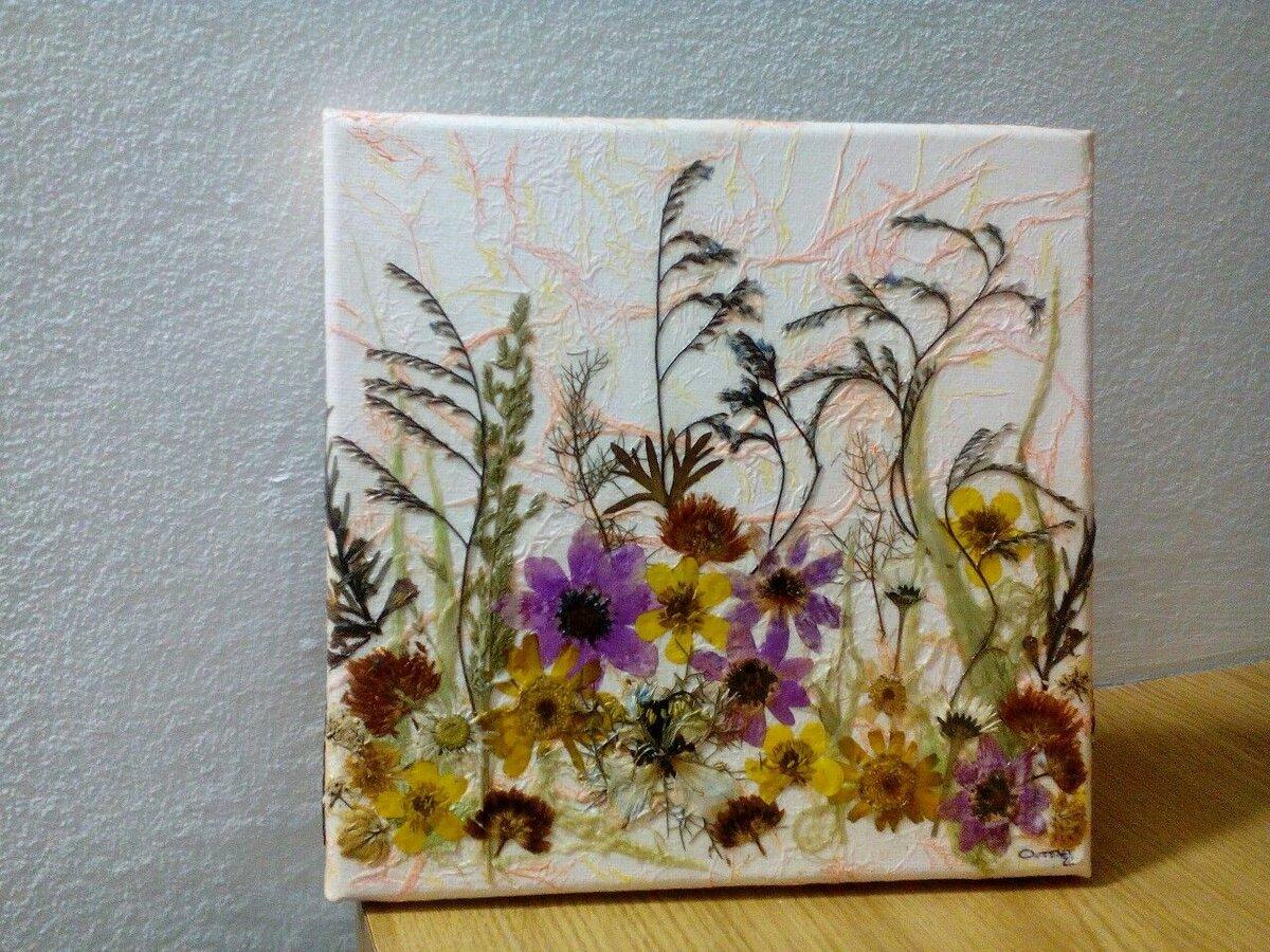 Открытки из засушенных цветов своими руками, сохранить фото
