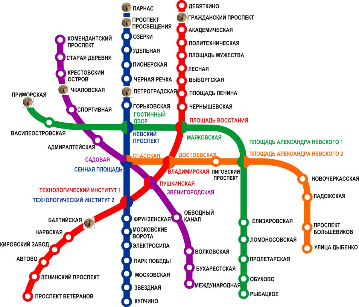 метро спб картинка схема развязка въезде