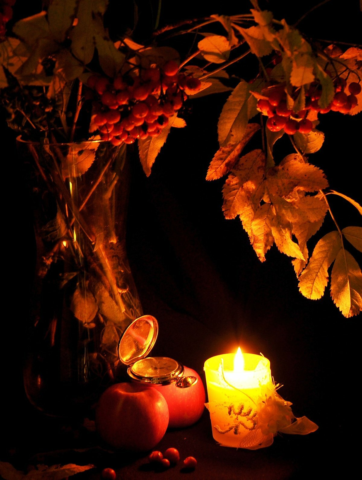 Картинки осень свечи