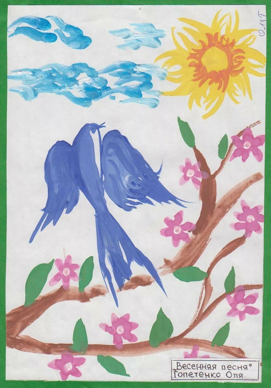 Картинки срисовать весна