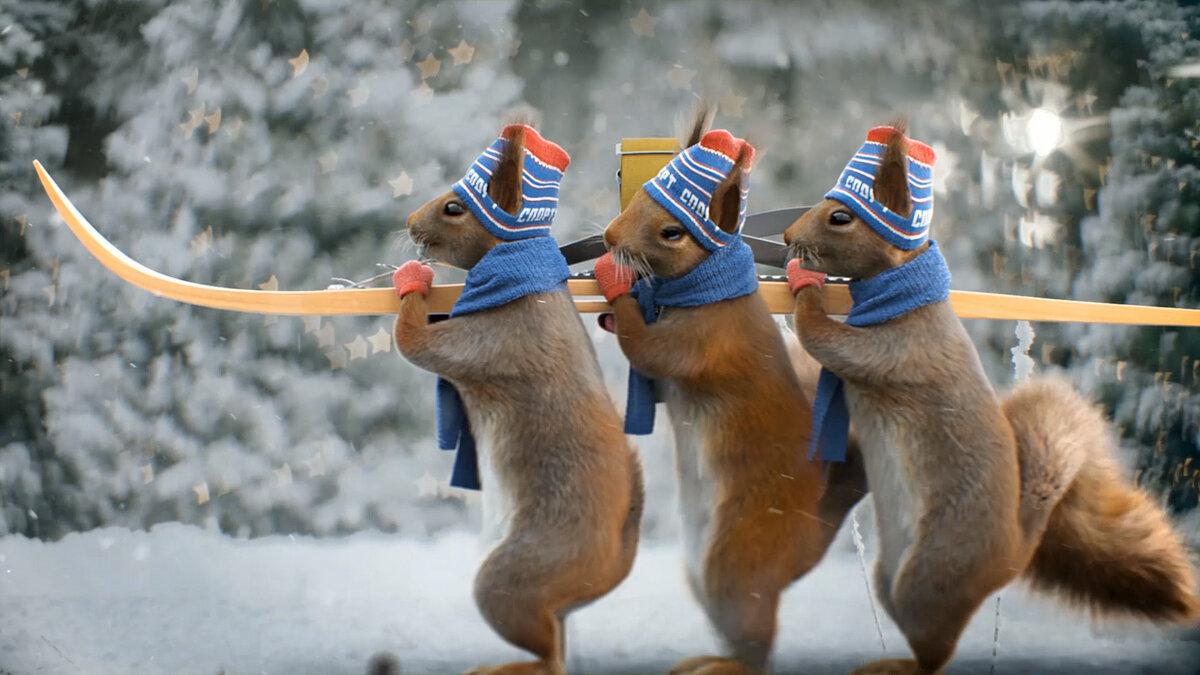 Новогодние картинки животные на рабочий стол